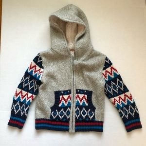 Toddler Boys Flame Stitch Hooded Sweater